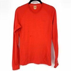 Icebreaker Merino Wool Red Long Sleeve Shirt